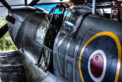 Cockpit Photograph - Spitfire by Ian Hufton