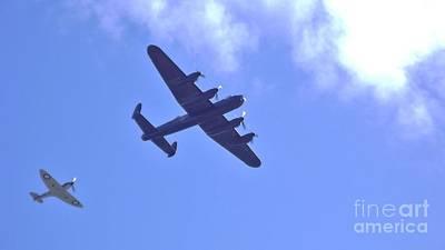 Spitfire  Lancaster Bomber Art Print