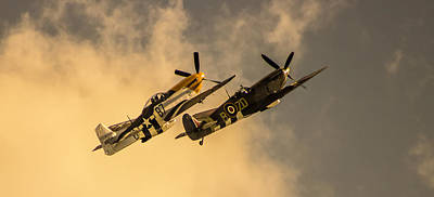 Airshow Flight Photograph - Spitfire by Martin Newman