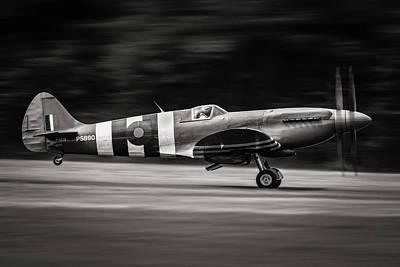 Military Aircraft Wall Art - Photograph - Spitfire Mk Xix by J??r??me Licois