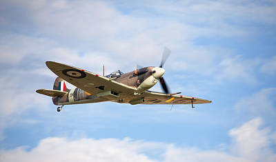 Photograph - Spitfire Mk5 Low Pass by Ian Merton