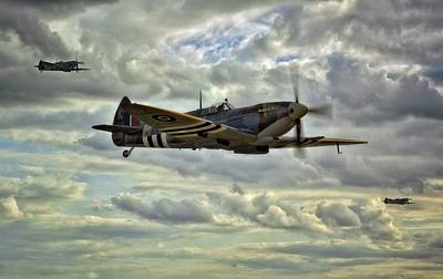 Raf Photograph - Spitfire Squadron by Jason Green