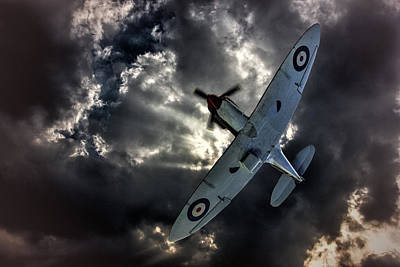 Spitfire Art Print by Thanet Photos