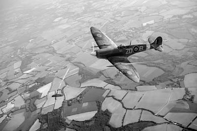 Photograph - Spitfire Victory Black And White Version  by Gary Eason
