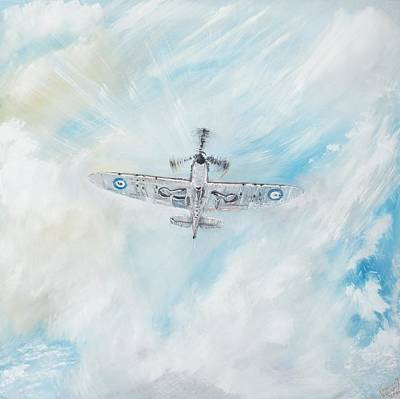 Spitfire Art Print by Vincent Alexander Booth
