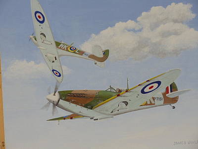 Painting - Spitfires Out Hunting by James Lawler
