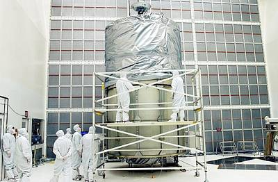 Spitzer Space Telescope Preparation Art Print by Nasa
