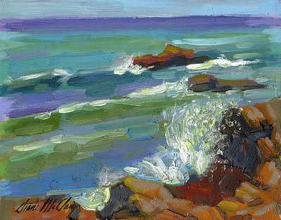 Baja Painting - Splash 1 by Diane McClary