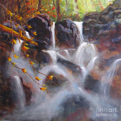 Beautiful Scenery Painting - Splash And Trickle by Mohamed Hirji