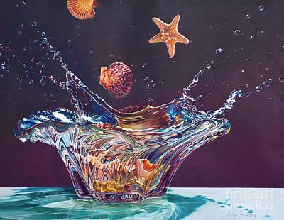Painting - Splash Down by Arlene Steinberg