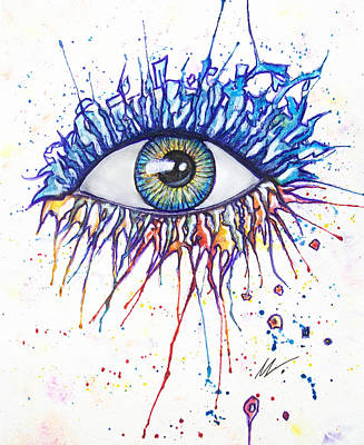 Painting - Splash Eye 1 by Kiki Art