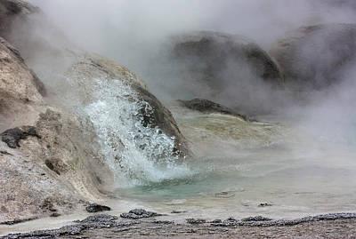 Splash From Grotto Geyser Art Print