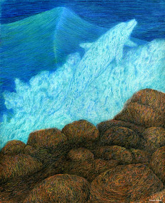 Hawaii Drawing - Splash by Kenneth Grzesik
