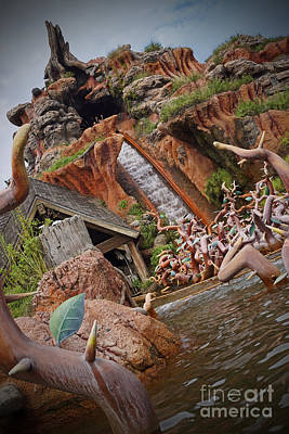 Photograph - Splash Mountain by AK Photography