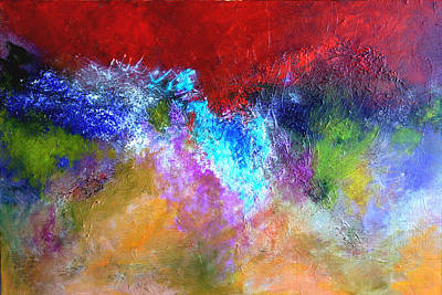 Painting - Splash Of Blue by Mary Jo Zorad
