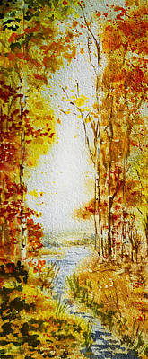 Maple Leaf Art Painting - Splash Of Fall by Irina Sztukowski