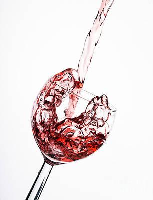 Vino Photograph - Splash Of Red by Tony Priestley