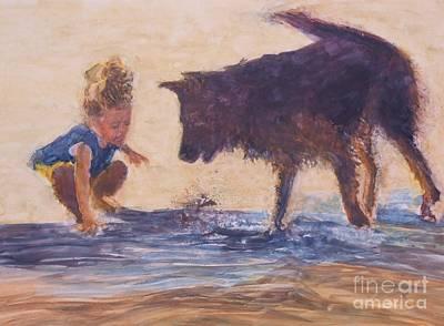 Wall Art - Painting - Splash  by Patrice Murphy