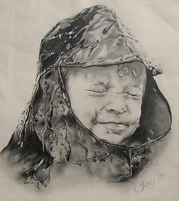 Rain Drawing - Splash by Tracy Male