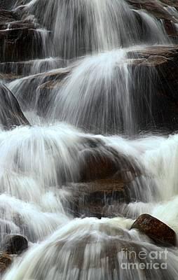 Photograph - Splashing Down The Rocks by Adam Jewell