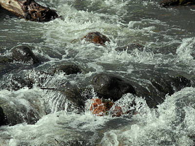 Photograph - Splashing Rushing Oak Creek by Lynda Lehmann
