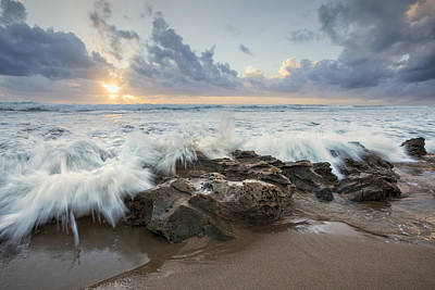 Photograph - Splashing Sunrise by Des Jacobs