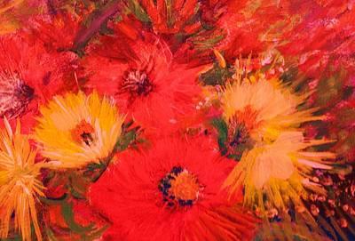 Splashy Floral IIi Art Print by Anne-Elizabeth Whiteway