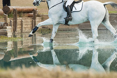Photograph - Splashy Reflection by M Davis