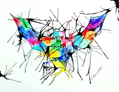 Splatter Bat Art Print