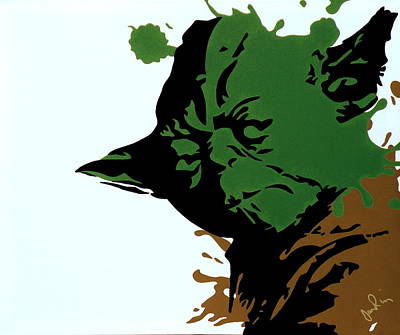 Splatter Yoda Art Print by Ian  King