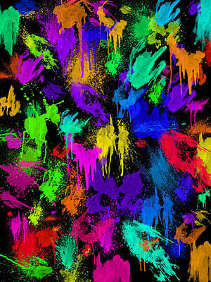 Splattered One Art Print