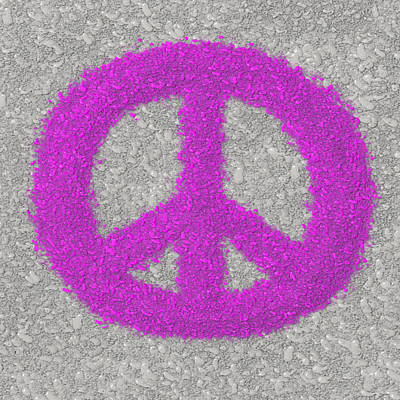 Painting - Splattered Paint Peace Sign by Michelle Brenmark