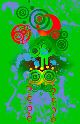 Digital Art - Splattered Series 11 by Teri Schuster