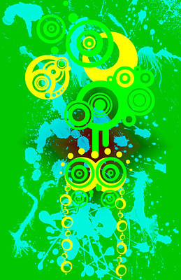 Digital Art - Splattered Series 3 by Teri Schuster