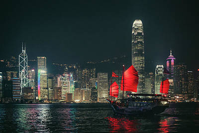Cityscapes Photograph - Splendid Asian City, Hong Kong by D3sign