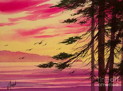 Splendid Sunset Bay Art Print by James Williamson