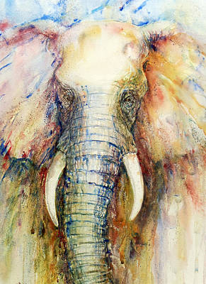 Impressionistic Animal Art Painting - Splendor by Arti Chauhan
