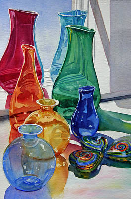 Painting - Splendor In The Glass by Judy Mercer