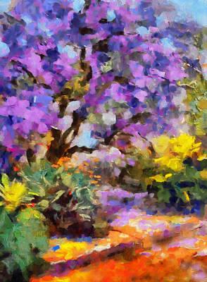 Impressionism Mixed Media - Splendor Of Nature by Georgiana Romanovna