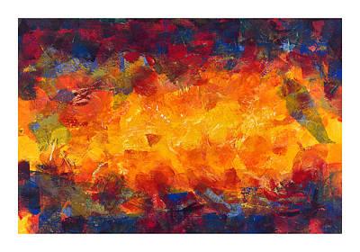 Impasto Oil Painting - Splinter Flow by Craig Tinder