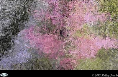 Digital Art - Splish Splash Pink by Holley Jacobs