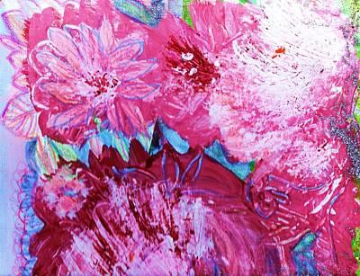 Splishy Splashy Pink And Jazzy Art Print by Anne-Elizabeth Whiteway