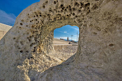 Photograph - Split Cathedral Tower In Stone Hole by Brch Photography