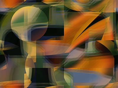 Digital Art - Split - Fine Art Digital Abstract by rd Erickson