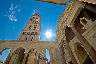 Photograph - Split Historic Center Cathedral View by Brch Photography