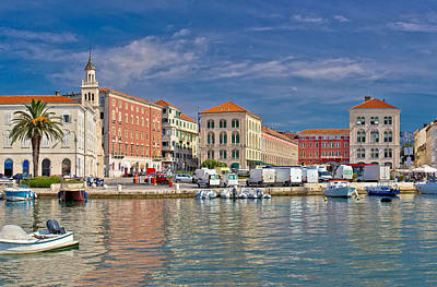 Photograph - Split Historic Peristil View From Sea by Brch Photography