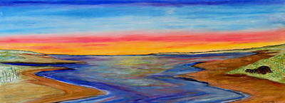 Pastel - Split In The Bay- Sunset by Daniel Dubinsky