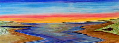 Pastel - Split In The Bay- Sunset by Daniel Dubinsky