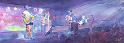 Painting - Split Lip Rayfield Wakarusa 2005 by David Sockrider