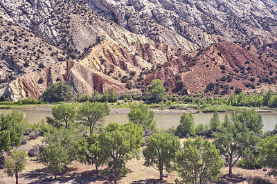 Photograph - Split Mountain Geology by Melany Sarafis